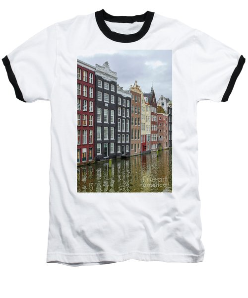 Canal Houses In Amsterdam Baseball T-Shirt by Patricia Hofmeester