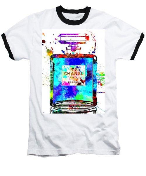 Chanel No. 5 Grunge Baseball T-Shirt by Daniel Janda