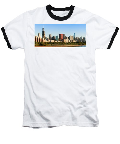 Chicago Downtown At Sunrise Baseball T-Shirt by Semmick Photo