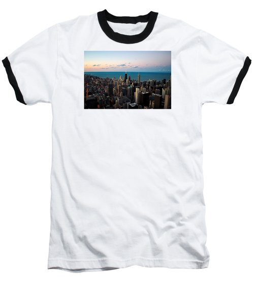 Chicago Skyline 2 Baseball T-Shirt