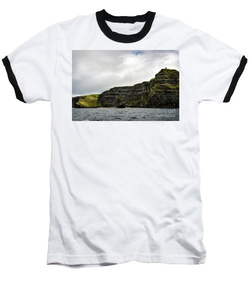 Baseball T-Shirt featuring the photograph Cliffs Of Moher From The Sea by RicardMN Photography