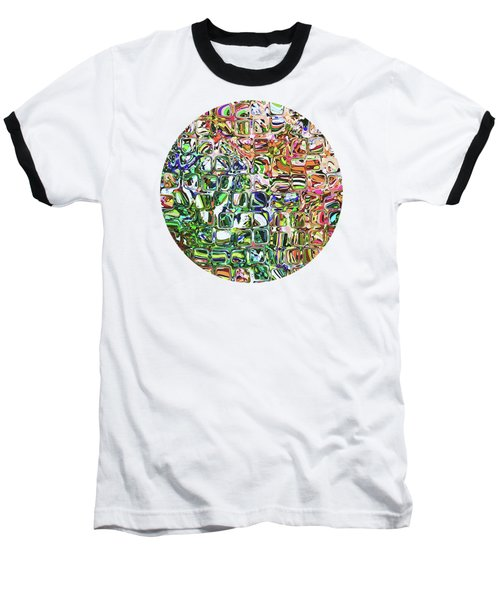 Colorful Shapes Pattern Baseball T-Shirt