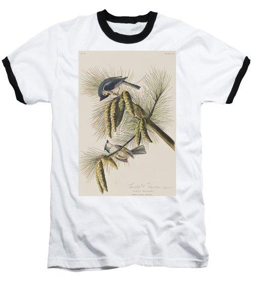 Crested Titmouse Baseball T-Shirt