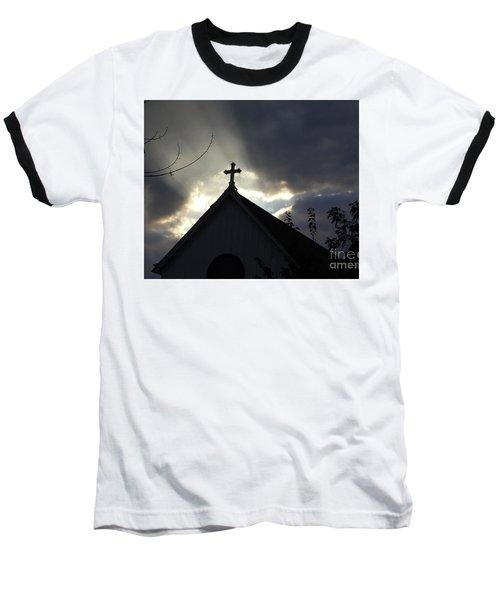 Cross In Sun Rays Baseball T-Shirt