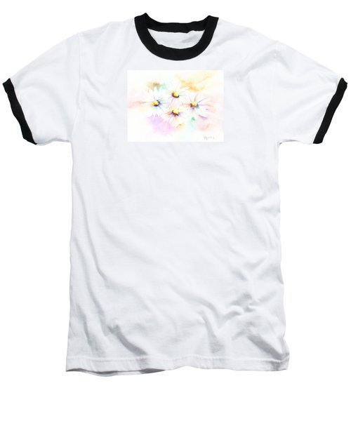 Baseball T-Shirt featuring the mixed media Daisy by Elizabeth Lock