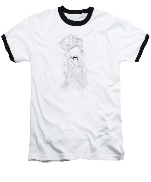 David Lynch Hands Baseball T-Shirt by Yo Pedro