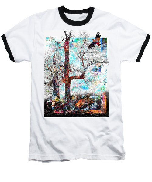 Dead Tree And Crow Baseball T-Shirt