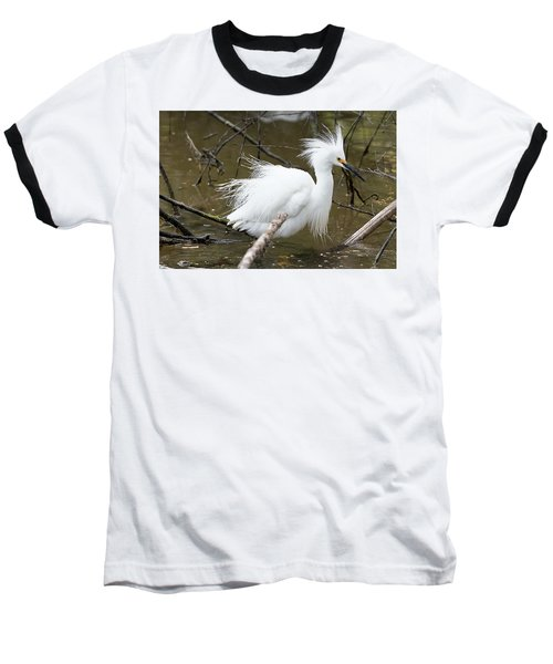 Egret Bath Baseball T-Shirt