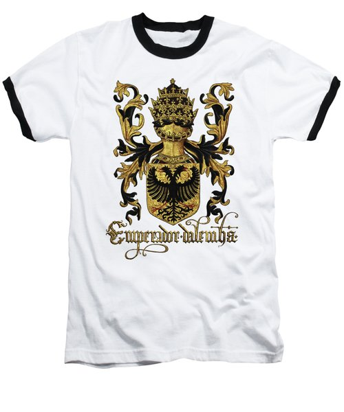 Emperor Of Germany Coat Of Arms - Livro Do Armeiro-mor Baseball T-Shirt by Serge Averbukh