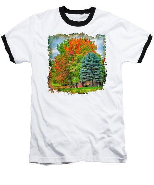 Fall Colors Baseball T-Shirt by John M Bailey