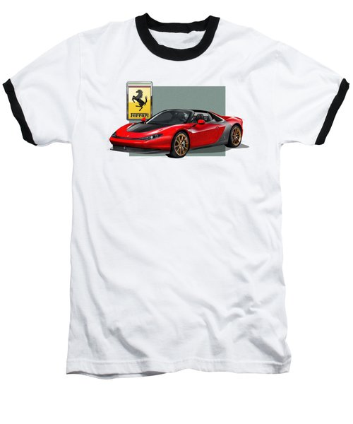 Ferrari Sergio With 3d Badge  Baseball T-Shirt