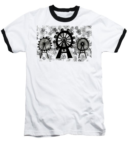 Ferris Wheel - London Eye Baseball T-Shirt