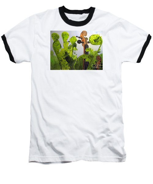 Fiddleheads Baseball T-Shirt by Sandy McIntire