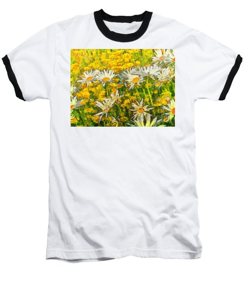 Field Of Daisies Baseball T-Shirt