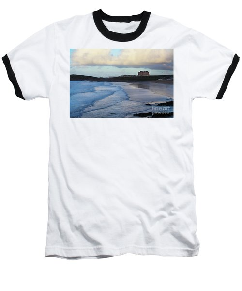 Baseball T-Shirt featuring the photograph Fistral Beach by Nicholas Burningham