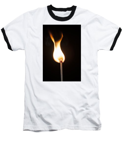 Flame Baseball T-Shirt by Tyson and Kathy Smith