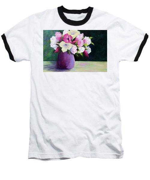Floral Delight Baseball T-Shirt