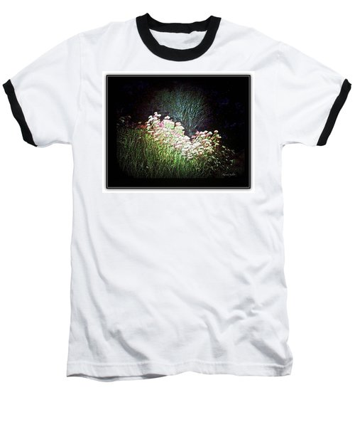 Flowers At Night Baseball T-Shirt