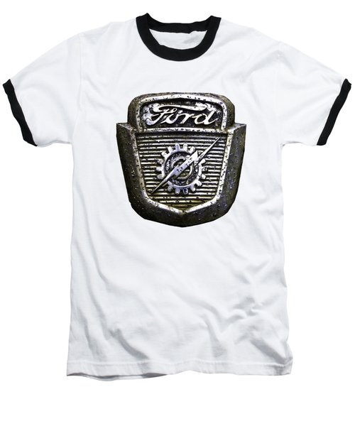 Ford Emblem Baseball T-Shirt by Debra and Dave Vanderlaan