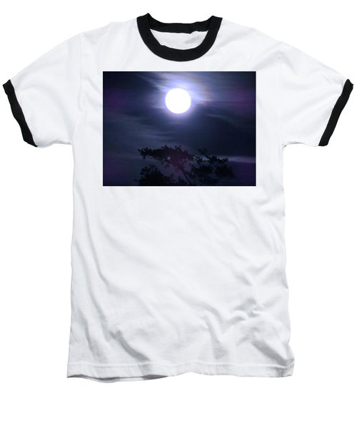 Full Moon Falling Baseball T-Shirt