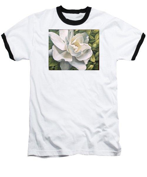 Baseball T-Shirt featuring the painting Gardenia by Natalia Tejera