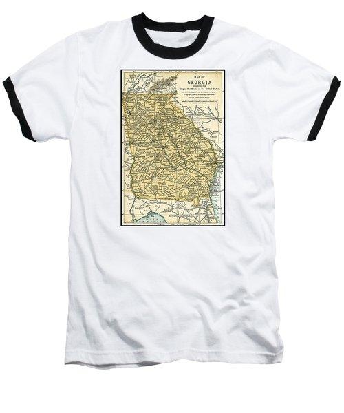 Georgia Antique Map 1891 Baseball T-Shirt
