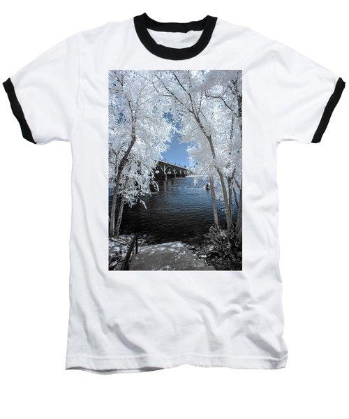 Gervais Street Bridge In Ir Baseball T-Shirt by Charles Hite