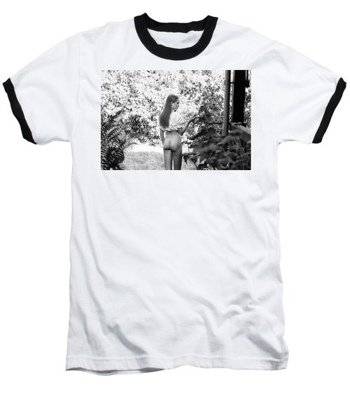 Girl In Swedish Garden Baseball T-Shirt