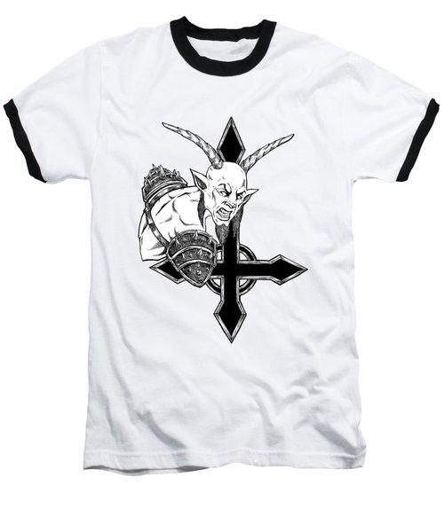 Goatlord Of The Cross Baseball T-Shirt
