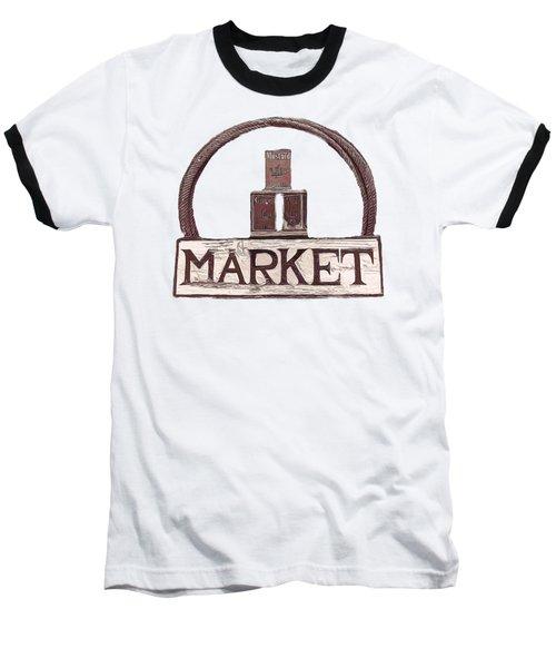 Going To The Market Baseball T-Shirt by Pamela Walton