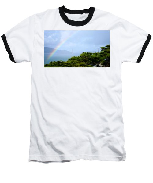 Golden Gate Bridge By Rainbow Baseball T-Shirt