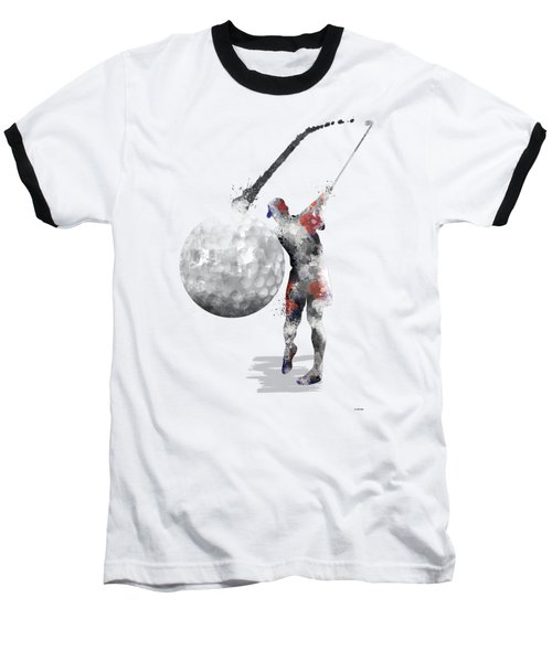 Golf Player Baseball T-Shirt by Marlene Watson