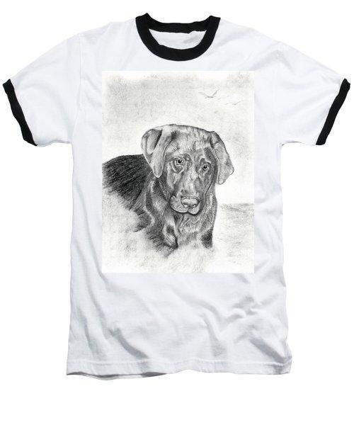 Baseball T-Shirt featuring the drawing Gozar by Mayhem Mediums