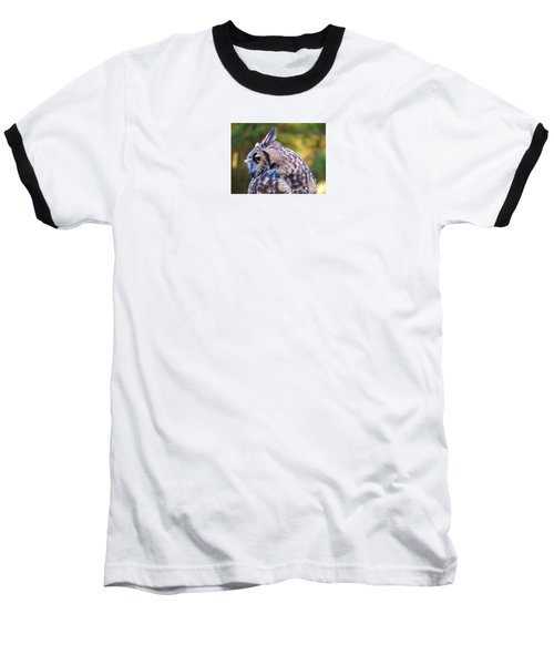 Great Horned Owl  Baseball T-Shirt by Michele Penner