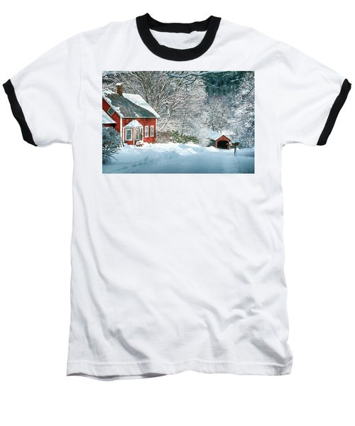 Green River Bridge In Snow Baseball T-Shirt by Paul Miller