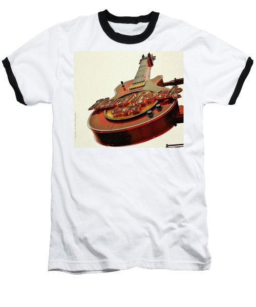 Baseball T-Shirt featuring the photograph Hard Rock Cafe' by Al Fritz