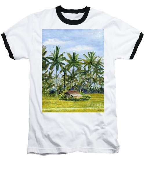Baseball T-Shirt featuring the painting Home Bali Ubud Indonesia by Melly Terpening