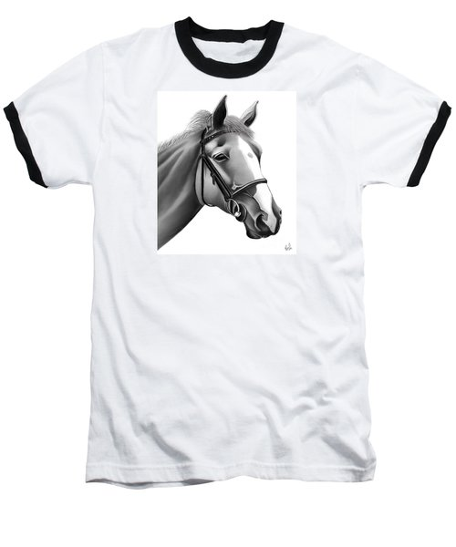 Horse Baseball T-Shirt by Rand Herron