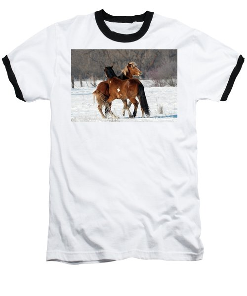 Baseball T-Shirt featuring the photograph Horseplay by Mike Dawson
