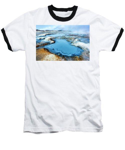 Hverir Steam Vents In Iceland Baseball T-Shirt