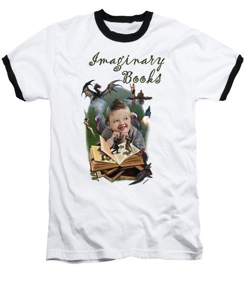 Imaginary Books Baseball T-Shirt by Joseph Juvenal