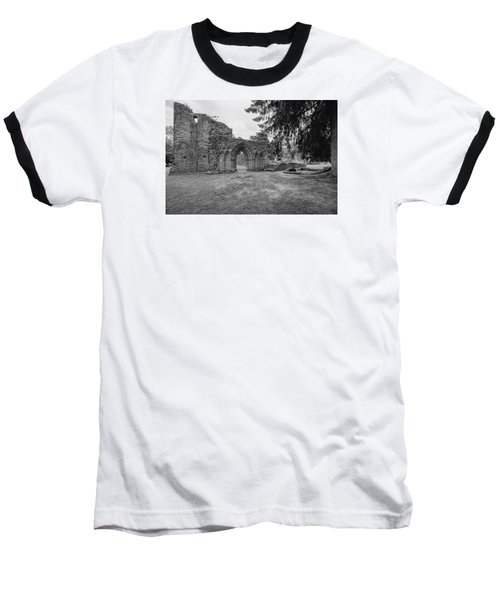 Inchmahome Priory Baseball T-Shirt by Jeremy Lavender Photography