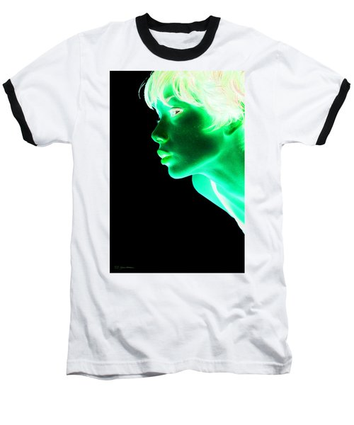 Inverted Realities - Green  Baseball T-Shirt