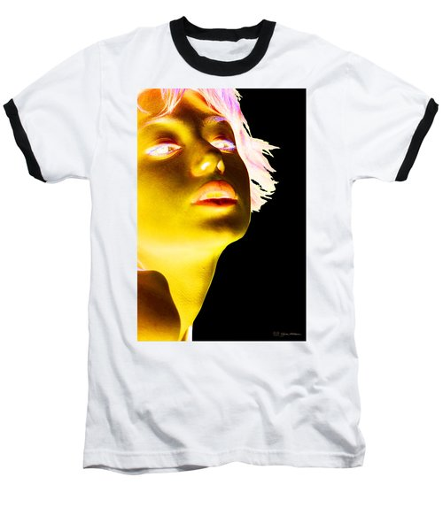 Inverted Realities - Yellow  Baseball T-Shirt