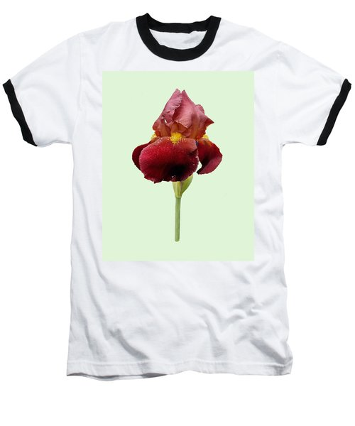 Baseball T-Shirt featuring the photograph Iris Vitafire Green Background by Paul Gulliver