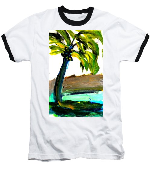 Island Time Baseball T-Shirt by Fred Wilson