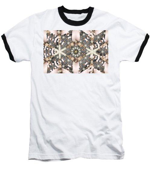 Kaleidoscope 97 Baseball T-Shirt by Ron Bissett