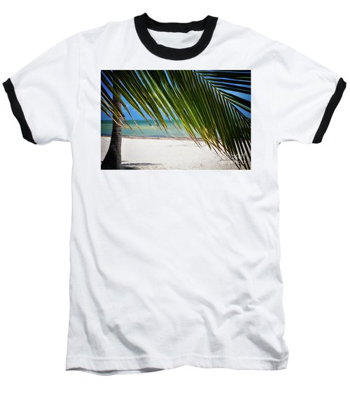 Baseball T-Shirt featuring the photograph Key West Palm by Kelly Wade