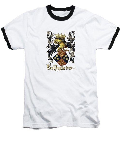 King Of England Coat Of Arms - Livro Do Armeiro-mor Baseball T-Shirt