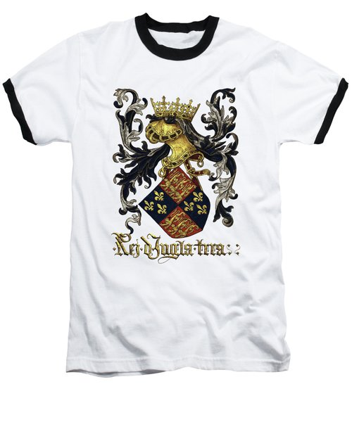 King Of England Coat Of Arms - Livro Do Armeiro-mor Baseball T-Shirt